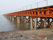 Prefabricated Delta Bailey Bridge / Steel Truss Bridge With Steel Structure